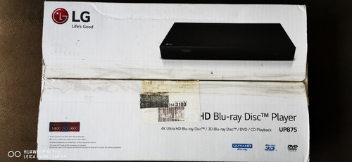 4k Ultra Hd Blu-ray Disc Player With Hdr Compatibility Up875