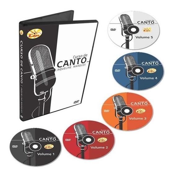 Coleção Curso De Canto Iniciantes 5 Dvds - Original