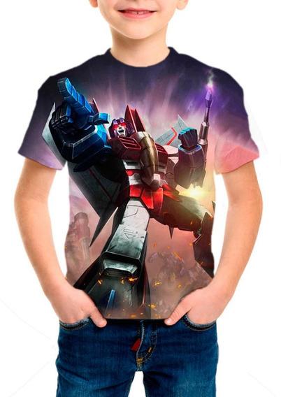 Camiseta Infantil Transformers Starscream - M001