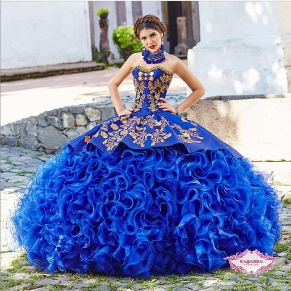 Vestido-ragazza -charro-azul Rey Colección Morena Y Esencial