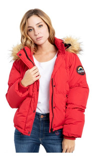 Campera Mujer Rusty Cocoon Red