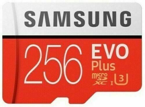 Cartão Samsung Micro Sd Evo Plus 256 Gb 100mb/s Sdxc U3 4k