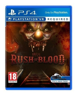 Until Dawn: Rush Of Blood (vr) Ps4 Original Sellado Físico