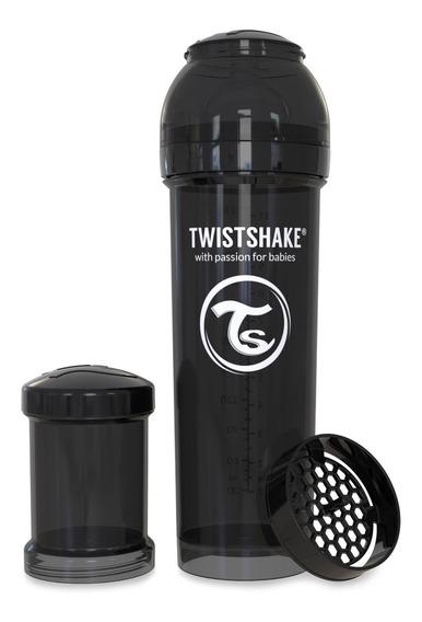 Biberón Anti-cólico Dosificador Twistshake 11 Oz Negro