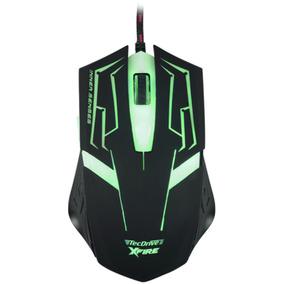 Mouse Gamer 3200dpi 7 Botoes Xfire Led Verde Tecdrive Skanda