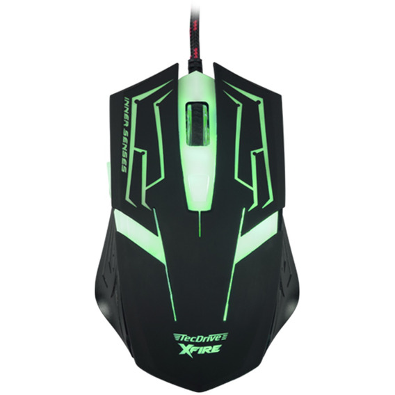 Mouse Gamer 3200dpi 7 Botoes Xfire Led Verde Tecdrive Skanda