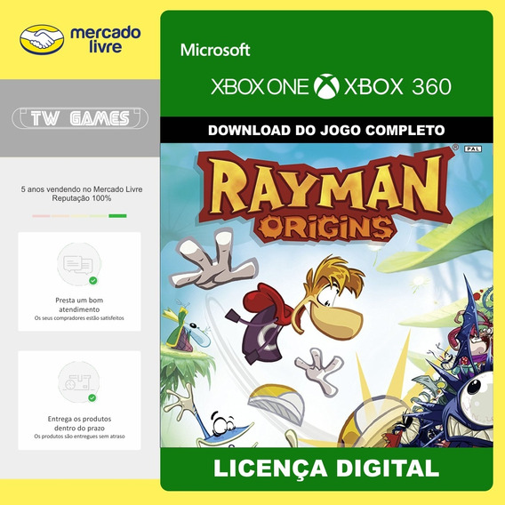 Rayman Origins Digital Retrocompativel Xbox 360 Xbox One
