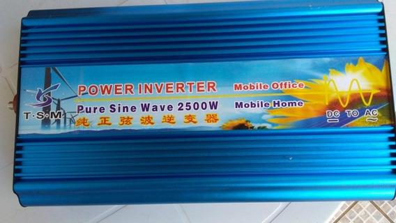 Inversor 2500w Pico5000w Onda Senoidal Pura 12v Saida 110v
