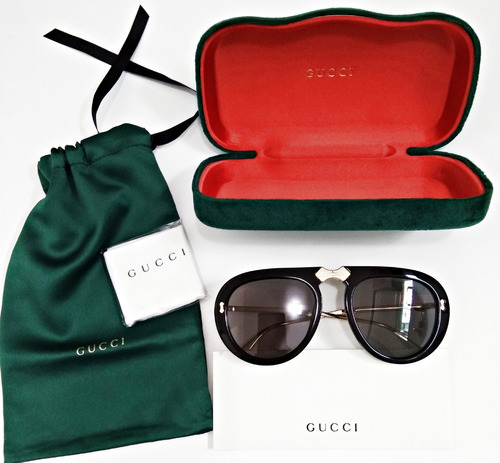 b06c7931e Óculos Gucci De Sol Aviador Dobrável Pronta Entrega