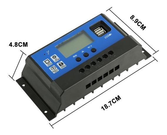 Controlador De Carga Solar Pwm Lcd 60a 12/24v