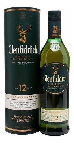 Whisky Glenfiddich 12 Años Single Malt Con Estuche Escoces