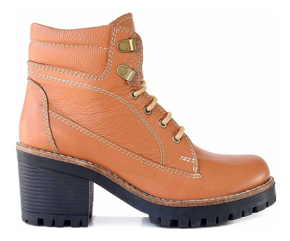 Borcego Cuero Mujer Briganti Bota Zapato Taco Goma Mcbo24699