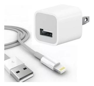 Cargador Pared iPhone 5 Se 6s 7 7 8 X Plus Original + Cable