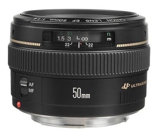 Lente Canon Ef 50mm F1.4 Usm Nota Fiscal E Garantia 1 Ano