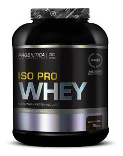 Whey Isolado 2kg Chocolate - Iso Pro Whey Probiótica