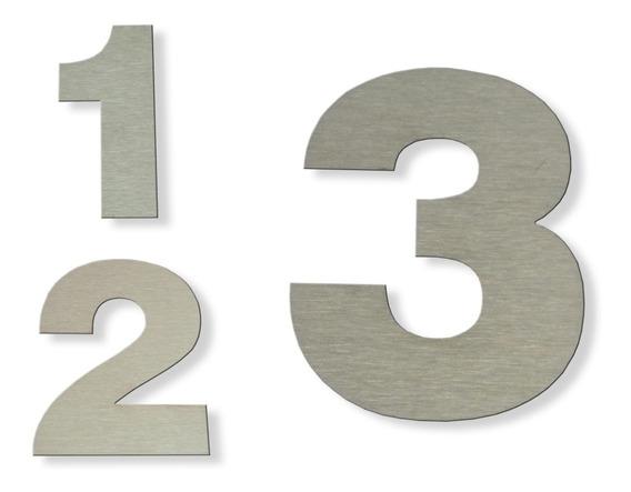 Numeros Residenciales 12cm Acero Inoxidable X 3 Unidades Verashop