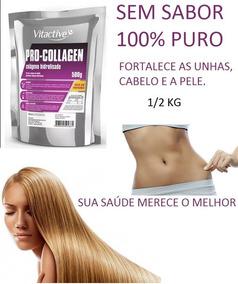 Colágeno Hidrolisado 100%puro Rico Em Proteína S/sabor 1/2kg