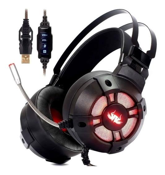 Headset Extreme Gamer Vibration Áudio 7.1 Ps4 Ps3 Pc Usb Ba