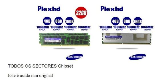 Memory Plexhd Server Ram 32gb X79 X58 2011 Lga2011 Ddr3 Ec
