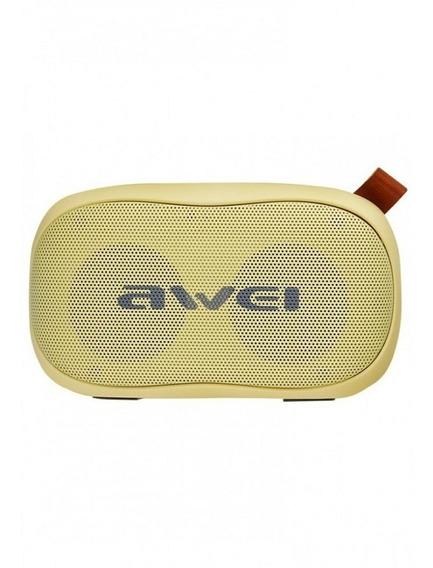 Caixa Som Awei Bluetooth Portátil Entrada Cartão Cor Amarelo