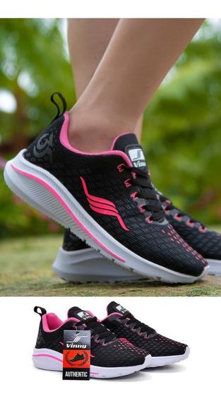 Tenis Feminino Academia Caminhada Crossfit Gel Corrida Black