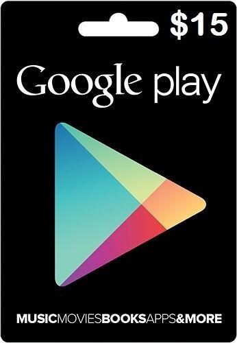 Tarjeta Google Play Store De 15 A Solo 16,99$  Envío Digital