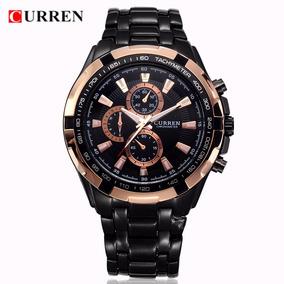 Relógio Curren Masculino Original Aço Luxo Super Promoção