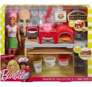 Barbie Chef De Pizza, Set Barbie Muñeca Y Accesorios Mattel.