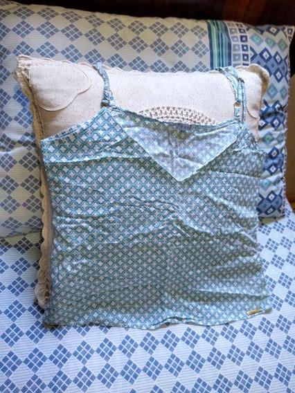 Blusinha De Alça Azul Geométrica