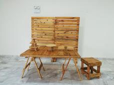 Alquiler De Mobiliario De Paletas (rustico) Para Fiestas
