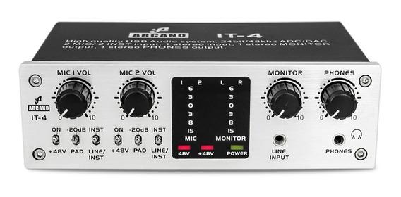 Interface De Áudio Arcano It-4 Alta Qualidade Pre-amp E Usb