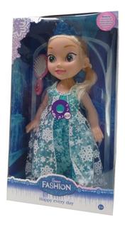Muñeca Elsa Frozen Canta Ojos De Vidrio
