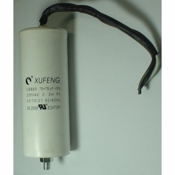 Capacitor Compressor Mam-8,7: 75+75uf 250vac, Motomil, Lynus