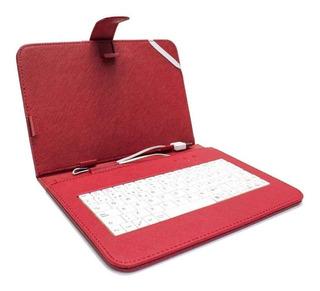 Funda Teclado Qwerty Micro Usb Tableta 7 Pulgadas Colores