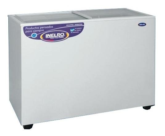 Freezers 335lts Tapa Vidrio Plana Gas Eco Inelro Fih-350v