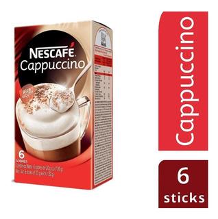Nescafe Capuccino Sobres Caja X 6 Sobres De 20g C/u