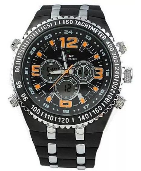 Relógio Masculino Anadigi Casual Weide Wh-1107