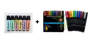 Stabilo Boss Pastel + Estuche Plumines Prismacolor