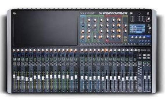 Mesa De Som Digital Soundcraft Si Performer 3 32 Canais
