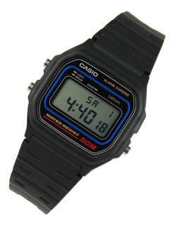 Reloj Casio W59 Retro Digital Sumergible Original Azul Garantia 1 Año Oficial