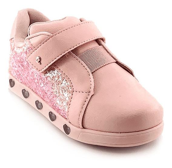 Tênis Infantil Pampili Sneaker Luz Cor Preto E Glitter
