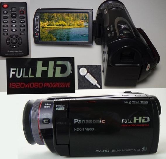 Filmadora Panasonic Hdc-tm900 Entrada Microfone Full Hd