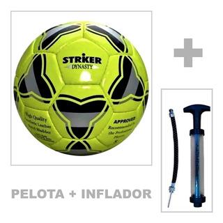 Pelota De Futbol Striker N4 Cocida + Inflador Penalty Cuotas