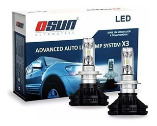 Kit Focos Luces Led Osun X3 Philips 35 Watts H11