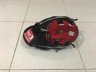 Guante Beisbol Softbol Piel Strike 3 Cuadro Manopla Mascota