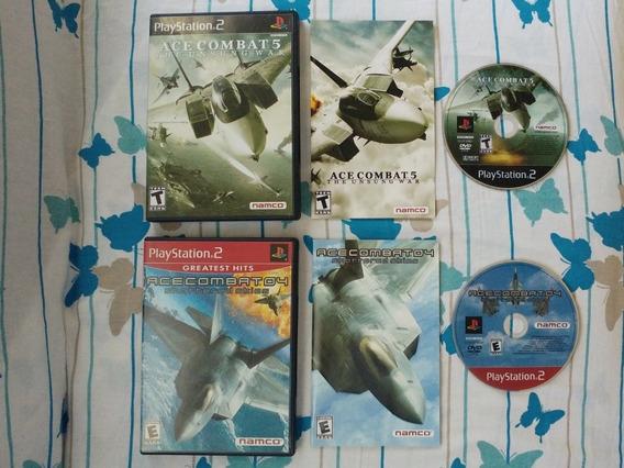 Kit Ace Combat 4 + Ace Combat 5 Originais Playstation 2!!