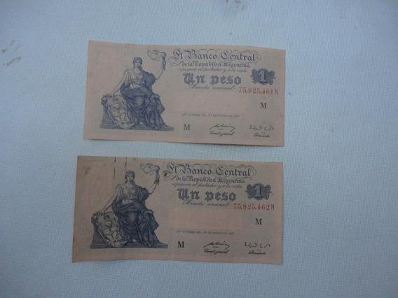 Antiguo Billetes Moneda Nacional Correlativos