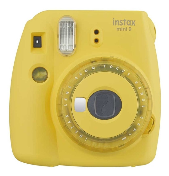 Câmera Fujifilm Instax Mini 9 Amarela + Filme 20 Poses