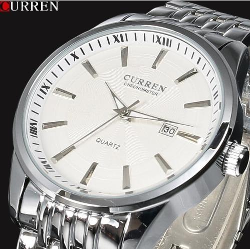 Relógio Curren Pulso Masculino Feminino Luxo Barato 8052