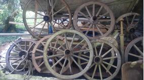 Rodas De Carroça Originais Para Decoraçao ,lustre, Jardim
